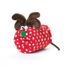 Rudy Holiday Dog Toy - Red with White Dots
