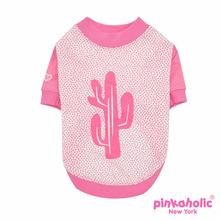 Saguaro Dog Shirt by Pinkaholic - Pink