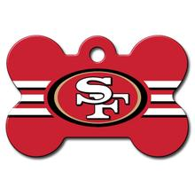 San Francisco 49ers Engravable Pet I.D. Tag - Bone