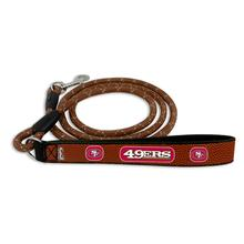 San Francisco 49ers Frozen Rope Leather Dog Leash