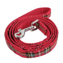 Santa Dog Leash by Puppia - Checkered Red