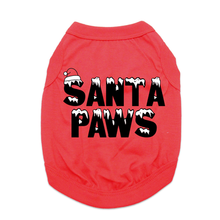 Santa Paws Dog Shirt - Red