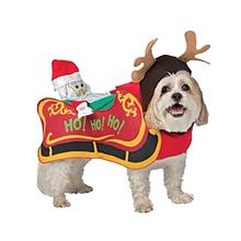 Santa's Sleigh Dog Costume