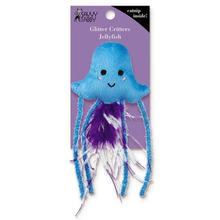 Savvy Tabby Glitter Critters Cat Toy - Jellyfish