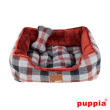 Sawyer House Dog Bed by Puppia - Dark Red