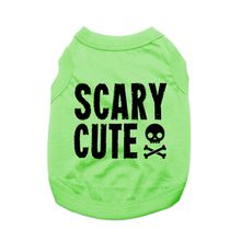 Scary Cute Dog Shirt - Green