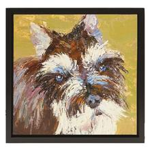 Schnauzer Oil Painting
