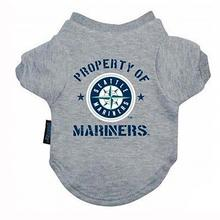 Seattle Mariners Dog T-Shirt - Property of Mariners Gray