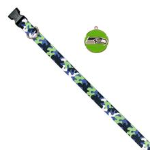Seattle Seahawks Team Camo Dog Collar and Tag by Yellow Dog