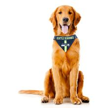 Seattle Seahawks Tie On Dog Bandana
