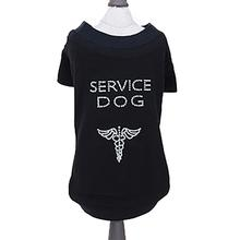 Service Dog Shirt by Hello Doggie - Black with Sleeves