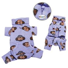 Silly Monkey Fleece Turtleneck Dog Pajamas - Lavender