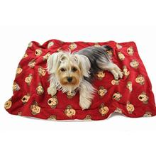 Silly Monkey Ultra-Plush Dog Blanket by Klippo - Burgundy