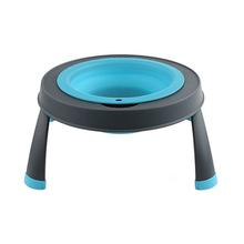 Single Elevated Dog Bowl By Popware - Blue