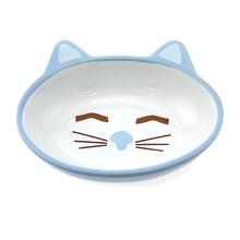Sleepy Kitty Blue Cat Bowl