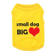 Small Dog Big Heart Dog Tank by Parisian Pet - Yellow