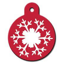 Snowflake Engravable Pet I.D. Tag