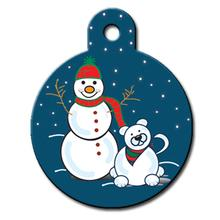 Snowman Engravable Pet I.D. Tag