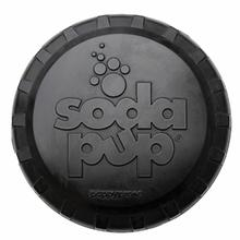 SodaPup Bottle Top Flyer Dog Toy - Magnum Black