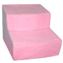 Soft Step Covered Pet Stairs - Pink