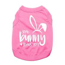 Some Bunny Loves You Dog Shirt - Pink