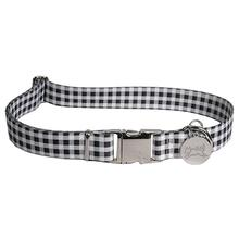 Southern Dawg Gingham Dog Collar by Yellow Dog - Black