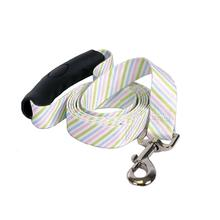 Southern Dawg Seersucker EZ-Grip Dog Leash by Yellow Dog - Pink, Blue and Green