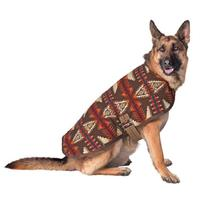 Southwestern Dog Coat - Brown