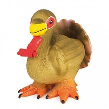 Sportsmen Latex Squeeze Meeze Dog Toy - Turkey