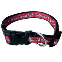 St. Louis Cardinals Officially Licensed Ribbon Dog Collar