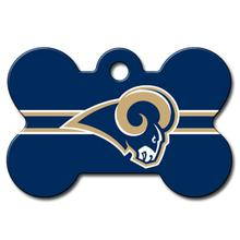 Los Angeles Rams Engravable Pet I.D. Tag - Bone