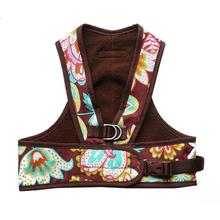 Step Easy Adjustable Dog Harness - Floral and Chocolate
