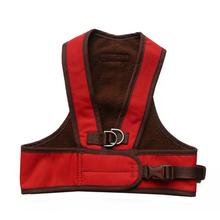 Step Easy Adjustable Dog Harness - Red and Chocolate