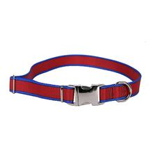 Sterling Dog Collar by Yellow Dog - Red with Royal Blue