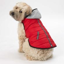 Stowe Puffer Dog Coat - Red