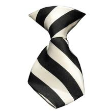 Striped Dog Neck Tie - White