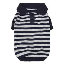 Striped Dog Polo by Dobaz - Navy and Gray