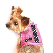 Sunglasses Mesh Dog Harness - Pink and Black