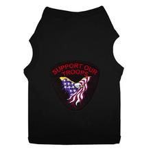 Support Our Troops Patch Dog Tank Top - Black