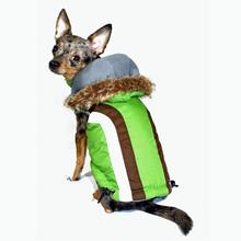 Swiss Alpine Ski Dog Vest by Hip Doggie - Green