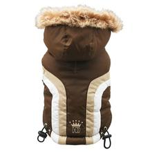 Swiss Alpine Ski Dog Vest by Hip Doggie - Brown