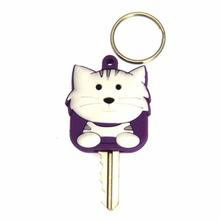 Tabby Cat Key Cover - White
