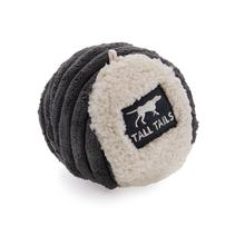 Tall Tails Ball Dog Toy - Charcoal and Cream