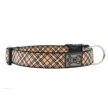 Tartan Adjustable Clip Dog Collar by RC Pet - Tan