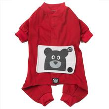 Teddy Bear Dog Pajamas - Red