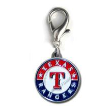 Texas Rangers Logo Dog Collar Charm