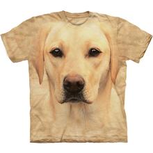 The Mountain Human T-Shirt - Yellow Lab Face