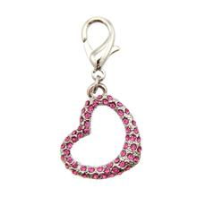 Tiff-Fou-Ny Heart D-Ring Pet Collar Charm by FouFou Dog - Pink