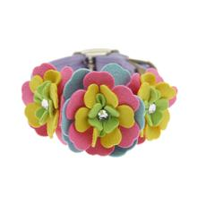 Tinkie Fantasy Flower Dog Collar by Susan Lanci - Lavender