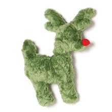 Tiny Tuff Reindeer Dog Toy by West Paw - Green